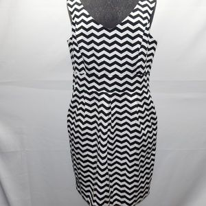 White House Black Market  Black and White Dress